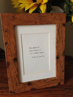 Pre-loved shabby chic vintage frame with hand-typed quote of your choice Anniversary Ideas For Him, First Wedding Anniversary, Paper Anniversary, Typed Quotes, Hand Type, Gifts For Mum, Rustic Feel, Vintage Frames, Wedding Gifts