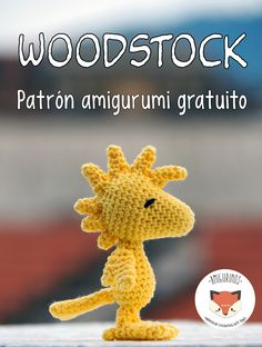 A free crochet pattern of woodstock. Do you also want to crochet Woodstock from Snoopy? Read more about the Free Crochet Pattern Woodstock. Crochet Amigurumi Free Patterns, Crochet Animal Patterns, Stuffed Animal Patterns, Crochet Animals, Crochet Dolls, Crochet Animal Amigurumi, Amigurumi Toys, Loom Patterns, Dinosaur Stuffed Animal