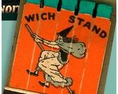 Witch on the Wich Stand Drive In Matchbook