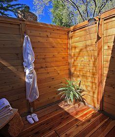 Coolest Outdoor Hotel Showers: L'Auberge de Sedona