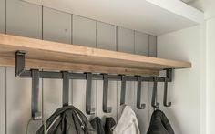 IMG Source by corverkleij Garage Furniture, Iron Furniture, Furniture Plans, Home Furniture, Decorating Tips, Interior Decorating, Coat Hanger, Inspired Homes, Wood And Metal