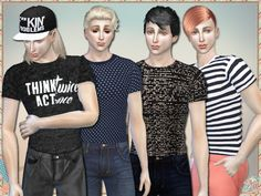 Act Once T-Shirts For Men by Simlark at TSR • Sims 4 Updates