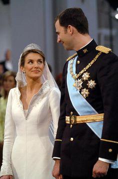 Crown Prince Felipe of Spain and Letizia Ortiz, May 22, 2004