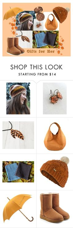 """""""Gifts for Her"""" by agnkam ❤ liked on Polyvore featuring Barbour, Hermès, UGG and Laura Geller"""