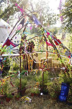 Wilderness festival children's area branches decoration | Flickr - Photo Sharing!