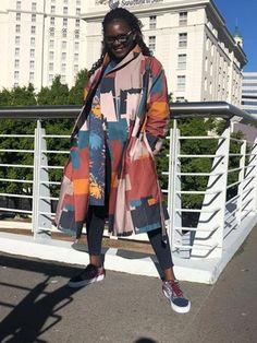 Zuri #KimonoCoat |  #womensouterwear | #wintercoat |  ZURI and IMANI | Surface and Textile Design Studio | South Africa