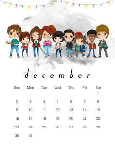 Resultado de imagen para stranger things calendario