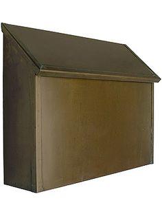 Craftsman Style Mailbox. Standard Antique Brass Mailbox Horizontal Style