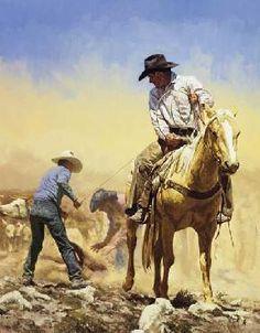 """Flanking Calves"" by Bill Owen"