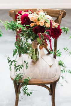 organic winter bouquet - photo by Photography Stylistas http://ruffledblog.com/romantic-chicago-wedding-in-a-loft
