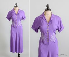 Vintage 1940s Summer Skirt & Top Suit Set.  https://www.etsy.com/listing/101083000/vintage-1940s-suit-40s-summer-skirt-top