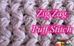 Zig Zag Puff Stitch and more...