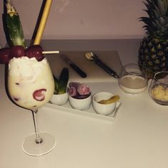 Strawberry Pina Colada *Virgin* #blendin #cocktail #coconutcream #strawberry #vanilla #pineapple