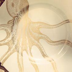 Home goods plate! Octopus!