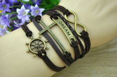 Vintage BraceletCross BraceletInfinity BraceletRudder by Richardwu, $5.99