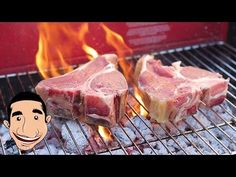 How to Grill T Bone Steak Florentine over Charcoal from Vincenzo's Plate - EverybodyLovesItalian.com