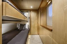 "Crew bedrooms onboard the incredible private superyacht ""Zenith"". Designed by ID Studios Pyrmont"