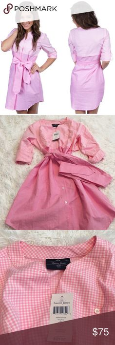 Lauren James Pink Gingham Madeline Dress So cute and perfect for spring and summer! Adorable waist tie bow. Brand new with tags! Made in the USA. No trades!! 01917150gwb Lauren James Dresses