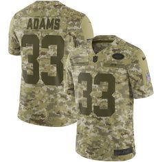 5027835ea Men New York Jets 33 Adams Nike Camo Salute to Service Retired Player  Limited NFL Jerseys