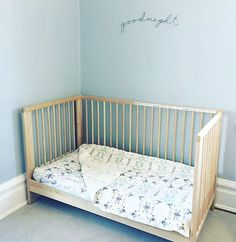 Eskayel baby bedding - looks very cute here - via @saltandsoul available exclusively @abccarpetandhome #eskayel #eskayelbedding #abcexclusive #eskayelxabc