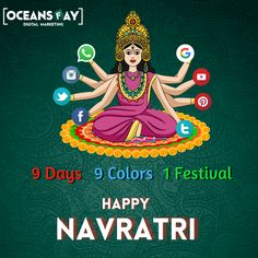 💐 या देवी सर्वभूतेषु माँ सिद्धिदात्री रूपेण संस्थिता।💐 💐 नमस्तस्यै नमस्तस्यै नमस्तस्यै नमो नमः॥ 💐 ✨✨ May the nine avatars of Maa Durga bless you with nine qualities- ⭐power ⭐Happiness ⭐Humanity ⭐Peace ⭐Knowledge ⭐Devotion ⭐Name ⭐Fame ⭐Health. Jai Mata Di 🙏🏻 Happy Navratri to all of you from team @oceansfay.dmc #navratri2020 #navratrispecial #happynavratri #maadurga #jainmaadurga #indianfestival #digitalmarketing #digitalbusiness #sociamedia #marketing #socialmediamarketing #internet Marketing Approach, Email Marketing Strategy, Social Media Marketing, Best Digital Marketing Company, Digital Marketing Services, Online Marketing, Navratri Festival, Digital India, Happy Navratri