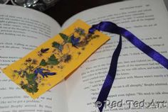 flower book mark