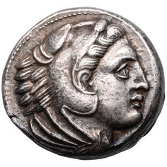 Ancient Greek Silver Tetradrachm Coin of Alexander the Great | From a unique collection of vintage more objets d'art and vertu at https://www.1stdibs.com/jewelry/objets-dart-vertu/more-objets-dart-vertu/