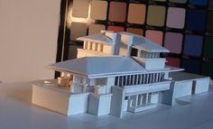 ROBIE HOUSE by Frank Lloyd Wright, scale model 1:200
