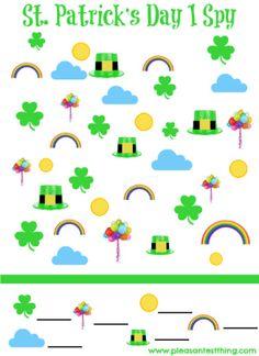 {free printable!} St. Patrick's Day I Spy Game