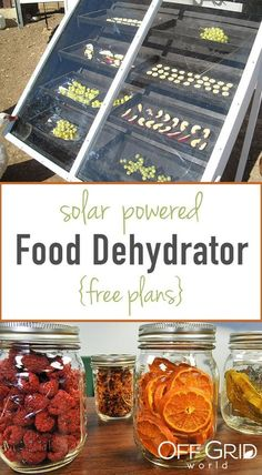 How To Make A Solar Powered Food Dehydrator Free Plans - pinupi love to share Solar Energy Panels, Best Solar Panels, Solar Energy System, Solar Panels For Home, Cocina Natural, Solar Roof, Solar House, Dehydrated Food, Dehydrator Recipes