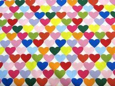 Alexander Henry Fabric Rainbow Hearts to Heart 1 by trendysisters