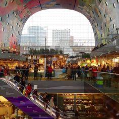 Rotterdam market hall full of beautiful foods