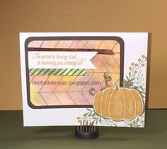 Show and Tell, with Michelle: September 2016 Stamp of the Month Blog Hop