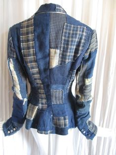Denim Blazer, Jeans, French Seam, Ralph Lauren Collection, Covered Buttons, Denim Fashion, Indigo, Transformation Project, Pure Products