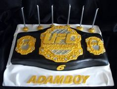 ufc cakes   UFC Title belt birthday cake - by deedee1978 @ CakesDecor.com - cake ...