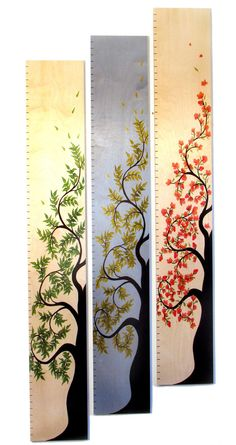 Tall Tree of Life Wooden Growth Chart 58 by HeadwatersStudio, $115.00