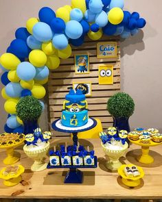New birthday party boy ideas decoration food tables 45 ideas Minions Birthday Theme, Minion Party Theme, Baby Birthday Themes, Boy Birthday Parties, Birthday Cakes, Minion Party Decorations, Birthday Decorations, Minion Banana, Minion Pumpkin