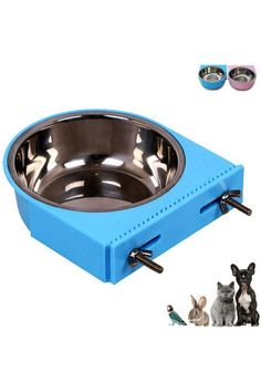 (This is an affiliate pin) Color:blueWhy do you choose our pet supplies? > Our team is absolutely committed to providing professional pets caretaker and everyday pet owners with top quality pet supplies they can count on. - 2-in-1 Plastic Bowl & Stainless Steel Bowl,one is the plastic bowl,another is an internal stainless steel bowl! - Smooth surface due to mirror polish, as bright as new even used it for many years! - Health and safety is our top priority! Size: Stainless steel bowl: heigh... Cat Feeder, Stainless Steel Bowl, Plastic Bowls, Health And Safety, Dog Bowls, Pet Supplies, Crates, Puppies, Pets