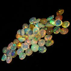 8 MM ! CALIBRATED NATURAL ETHIOPIAN OPAL ROUND SHAPE CABOCHON MULTI PLAY COLORED