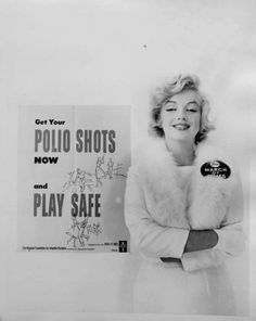 Marilyn Monroe in a campaign photo for The March of Dimes, 1957.