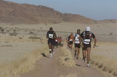 Ultra marathon runners - across the Divide in the Namib Desert, Namibia