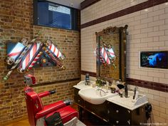 FormRoom for Ted Baker | Mortimer Street Grooming Room Interior | #TedBaker #RetailInteriors #StoreDesign #VM #Bespoke #Fitout #GroomingRoom #BarbersShop #Interior #DisplayDesign #Design #Interiors #Grooming