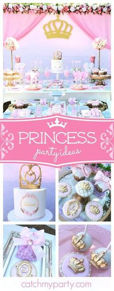 Don't miss this amazing vintage princess themed baby shower! The vintage dresser dessert table is gorgeous!! See more party ideas and share yours at CatchMyParty.com #partyideas #babyshower #princess #catchmyparty
