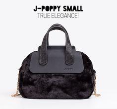 J-POPPY Small ecofur black