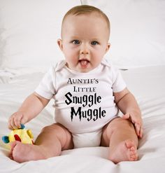 Funny Harry Potter Baby Onesie  Auntie's Little by KennieBlossoms