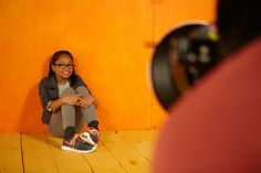 Eight-year old Alicia showed off her #Nike kicks on the set of our #ModelsWanted #fall photo shoot.