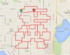 Challenge running : faire des dessins avec son tracé GPS. #Geek #GPS