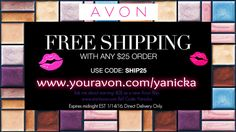 #Free shipping on any $25 #Avon order. #TodayOnly Use #code: SHIP25 #beauty #makeup #color #fashion #deals #ValentinesDay #gifts #giftidea #jewelry