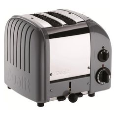 Dualit has upgraded its iconic toaster with a setting for buns and bagels and a defrost setting for frozen bread. What hasn't changed is the superlative quality and design that have made Dualit famous: each toaster is still hand-assembled Kitchenaid Toaster, Dualit Toaster, Toaster Ovens, Cooking Appliances, Small Appliances, Kitchen Appliances, Cooking Utensils, Kitchen Gadgets, Cooking Toys