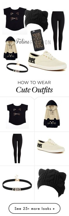 """""""Cat outfit"""" by haley102004 on Polyvore featuring WithChic and Keds"""